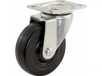 4-Inch Polypropylene Wheel Swivel Plate Caster, 275-lb Load Capacity