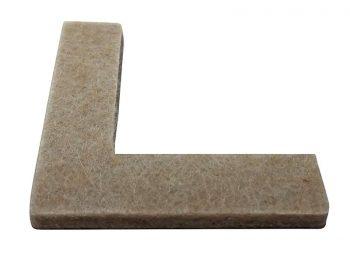 1-1/2-Inch Heavy Duty Self-Adhesive Felt Corner Furniture Pads, 8-Pack