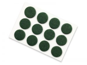 1/2-Inch Self-Adhesive Felt Furniture Pads, 24-Pack, Green