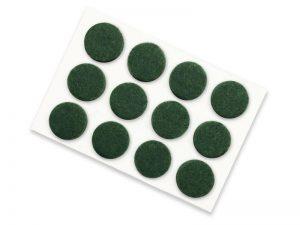 3/4-Inch Self-Adhesive Felt Furniture Pads, 12-Pack, Green