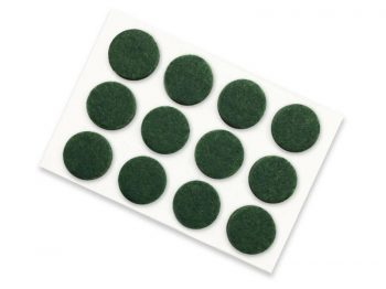 3/4-Inch Self-Adhesive Felt Furniture Pads, 12-Pack, Green