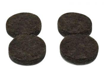 1-Inch Self-Adhesive Felt Furniture Pads, 4-Pack, Brown