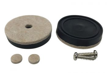 1-1/2-Inch Heavy Duty Felt Pad Furniture Cups, 4-Pack