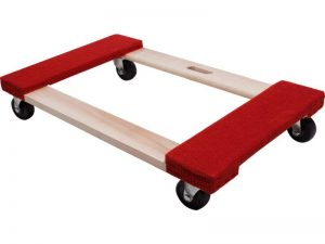 Move-It Carpeted Solid Wood Moving Dolly