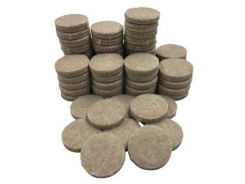 1-Inch Heavy Duty Self-Adhesive Felt Furniture Pads, 160-Count, Beige