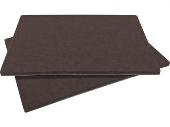 4-1/4-Inch x 6-Inch Heavy Duty Self-Adhesive Brown Blanket Furniture Pads, 2-Pack
