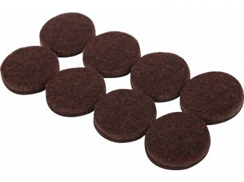 1-Inch Heavy Duty Self-Adhesive Felt Furniture Pads, 16-Pack, Brown