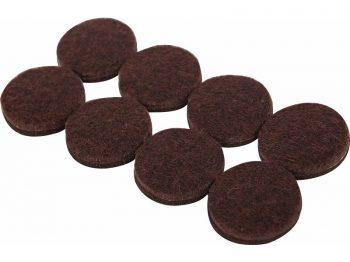1-Inch Heavy Duty Self-Adhesive Felt Furniture Pads, 16-Pack, Brown