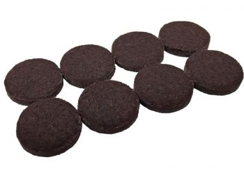 1-1/2-Inch Heavy Duty Self-Adhesive Felt Furniture Pads, 8-Pack, Brown