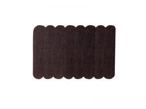 1/2-Inch x 2-5/8-Inch Heavy Duty Self-Adhesive Felt Furniture Strips, 16-Pack, Brown