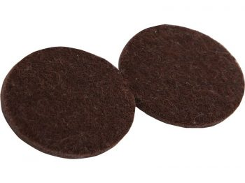 2-Inch Heavy Duty Self-Adhesive Felt Furniture Pads, 4-Pack, Brown