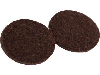 2-Inch Heavy Duty Self-Adhesive Felt Furniture Pads, 4-Pack, Brown
