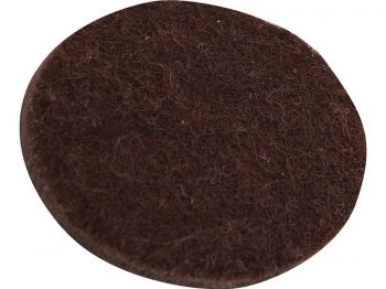 3-Inch Heavy Duty Self-Adhesive Felt Furniture Pads, 4-Pack, Brown