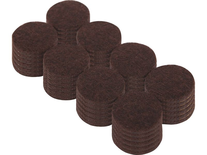 1 Inch Heavy Duty Self Adhesive Felt Furniture Pads 48 Count Brown Shepherd Hardware