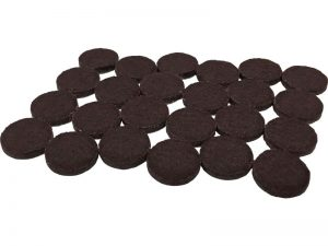 1-1/2-Inch Heavy Duty Self-Adhesive Felt Furniture Pads, 24-Count, Brown