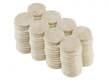 1-Inch Heavy Duty Self Adhesive Felt Furniture Pads, 96-Pack, Beige