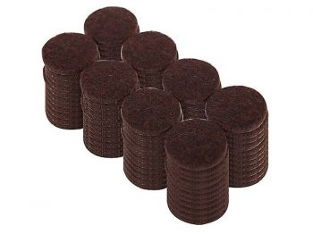 1-Inch Heavy Duty Self Adhesive Felt Furniture Pads, 96-Pack, Brown