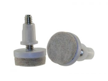1-1/2-Inch Felt Gard Threaded Stem Furniture Glides, 1/4-Inch Stem Diameter, 4-Pack