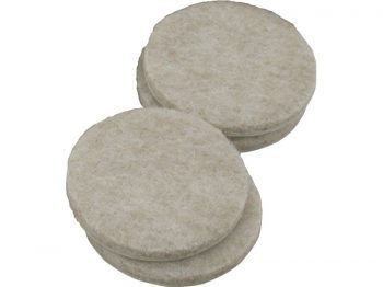2-Inch Heavy Duty Self-Adhesive Felt Furniture Pads, 4-Pack, Beige