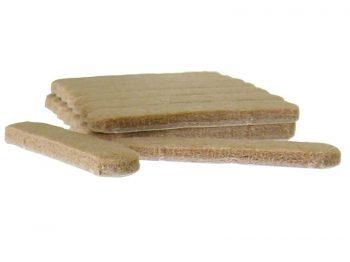 1/2-Inch x 2-5/8-Inch Heavy Duty Self-Adhesive Felt Furniture Strips, 16-Count