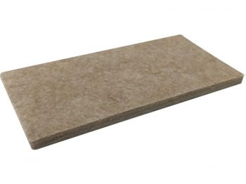 2-Inch x 4-Inch Heavy Duty Self-Adhesive Felt Furniture Pads, 3-Pack, Beige
