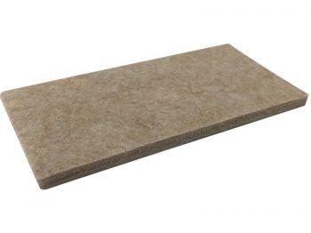 2-Inch x 4-Inch Heavy Duty Self-Adhesive Felt Furniture Pads, 3-Pack, Beige