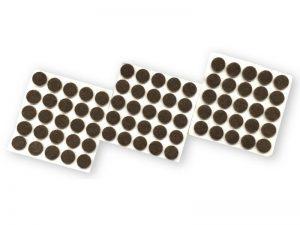 3/8-Inch Self-Adhesive Felt Furniture Pads, 75-Pack, Brown