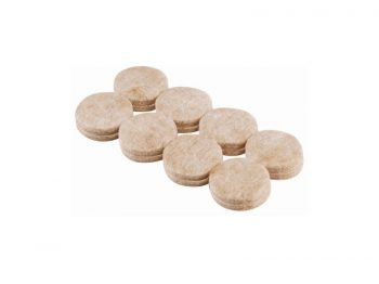 1-Inch Heavy Duty Self-Adhesive Felt Furniture Pads, 16-Pack, Beige