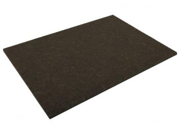4-1/2-Inch x 6-Inch Self-Adhesive Felt Furniture Pads, 2-Pack, Brown
