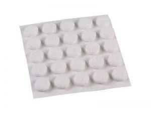 3/8-Inch Self-Adhesive Felt Furniture Pads, 75-Pack, White