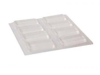 1/2 x 1-Inch Surface Gard Clear Adhesive Bumper Pads, 8-Count