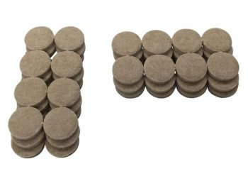 1-Inch Heavy Duty Self-Adhesive Felt Furniture Pads, 48-Count, Beige