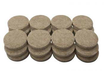 1-1/2-Inch Heavy Duty Self-Adhesive Felt Furniture Pads, 24-Count, Beige